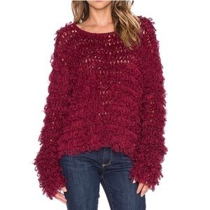 Knitz for Love and Lemons Looped Knit Sweater XS